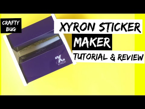 XYRON STICKER MAKER TUTORIAL & REVIEW; diy homecoming mums; Scrapbooking; how to make stickers
