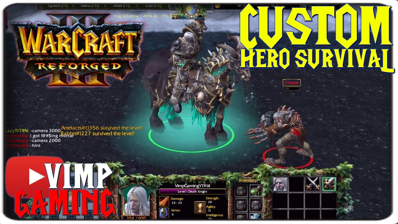 Warcraft 3 Reforged Custom Hero Survival Youtube