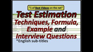 TEST EFFORT ESTIMATION | Test Estimation Template | Test Estimation Interview Questions