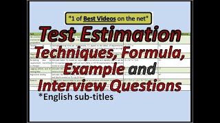 TEST EFFORT ESTIMATION | Test Estimation Template | Test Estimation Interview Questions
