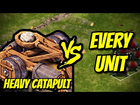HEAVY CATAPULT vs EVERY UNIT   Age of Empires: Definitive Edition  
