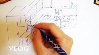 vlog все в семье рисуют. планируем кухню - Senya Miro