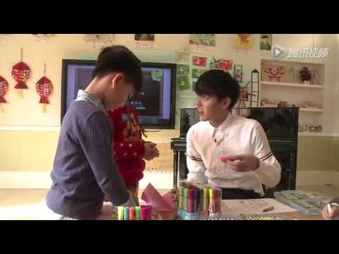 150217 Wu Yi Fan and children on A Date With Lu Yu show