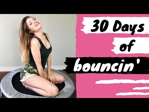 I tried a Trampoline Workout for 30 Days Before & After Results!