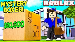 ROBLOX POSTAL SIMULATOR! (DELIVERING $20,000 MYSTERY BOXES)