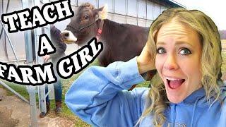 Technology in A 2,000 Head Dairy Farm And How They RUN! *Plus Farm Girl Milks a Cow!*