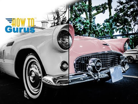 How To Color Black And White In Adobe Oshop Elements Tutorial
