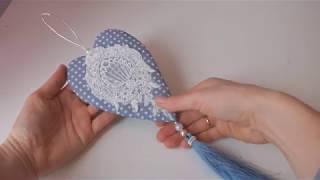 Интерьерная подвеска сердце мастер класс/подарок на 14 февраля своими руками
