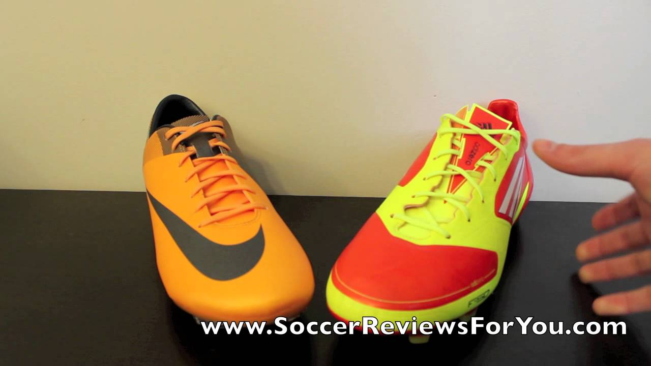 Productivo T Mareo  Nike Mercurial Vapor VII VS Adidas F50 adizero miCoach - Comparison -  YouTube