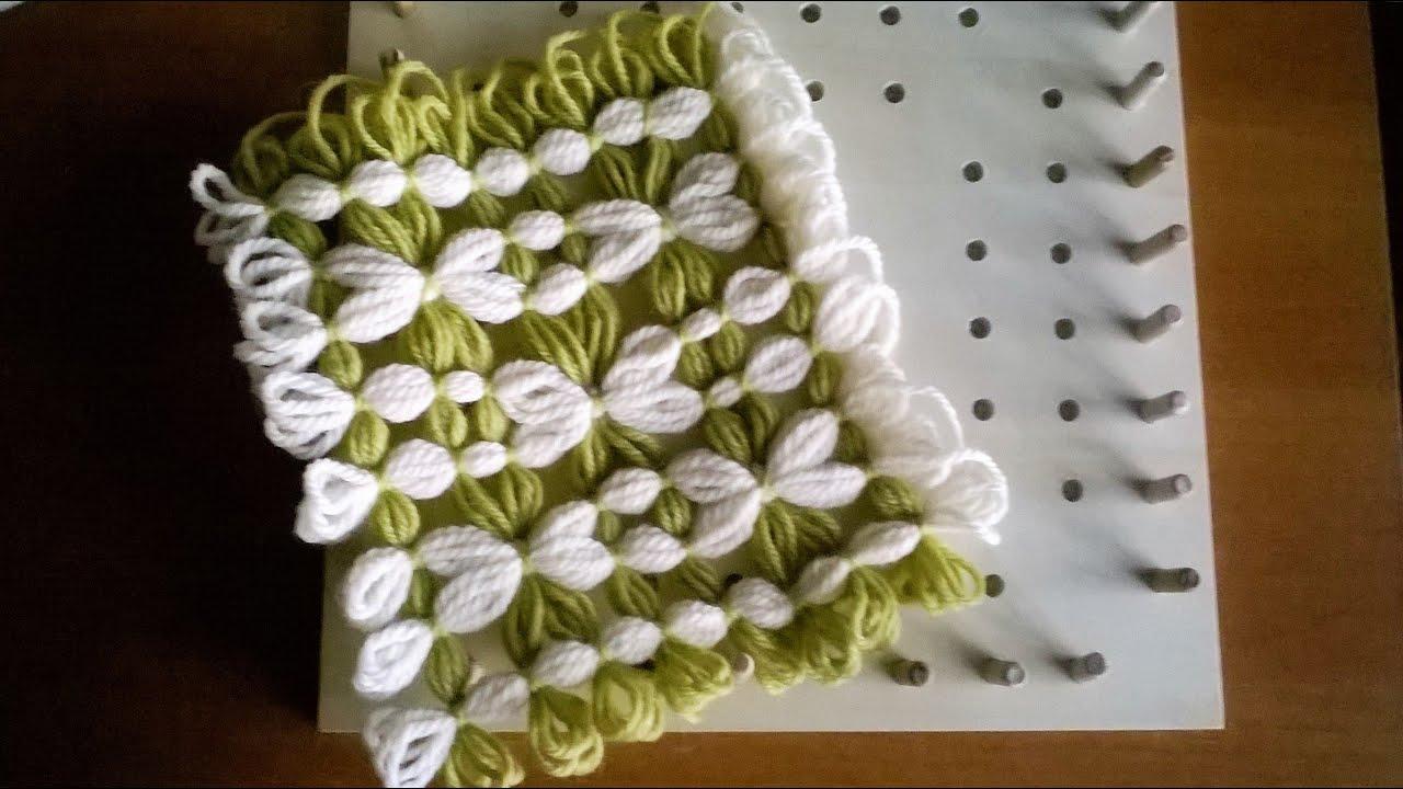 Telaio di maria gio piastrella bicolore con fiori youtube