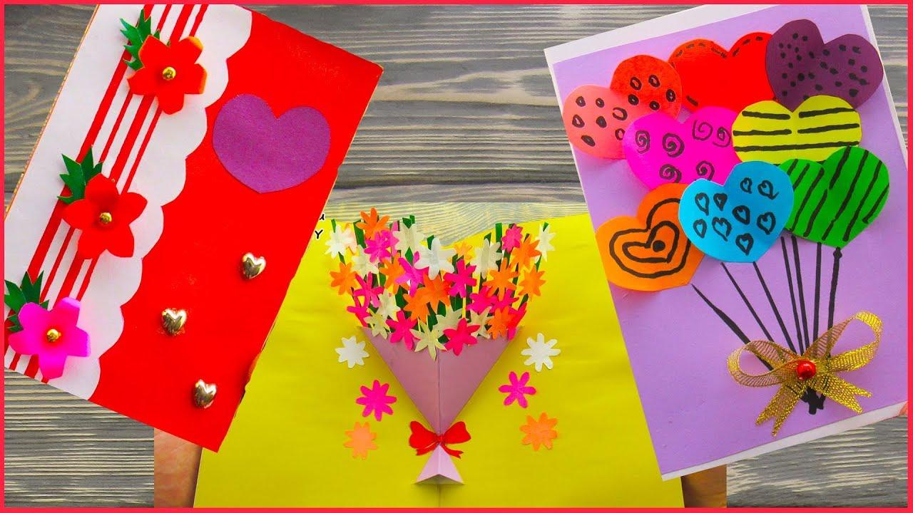 Как сделать открытку на праздник маме