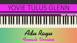 Yovie Tulus Glenn - Adu Rayu FEMALE (Karaoke Acoustic) by regis