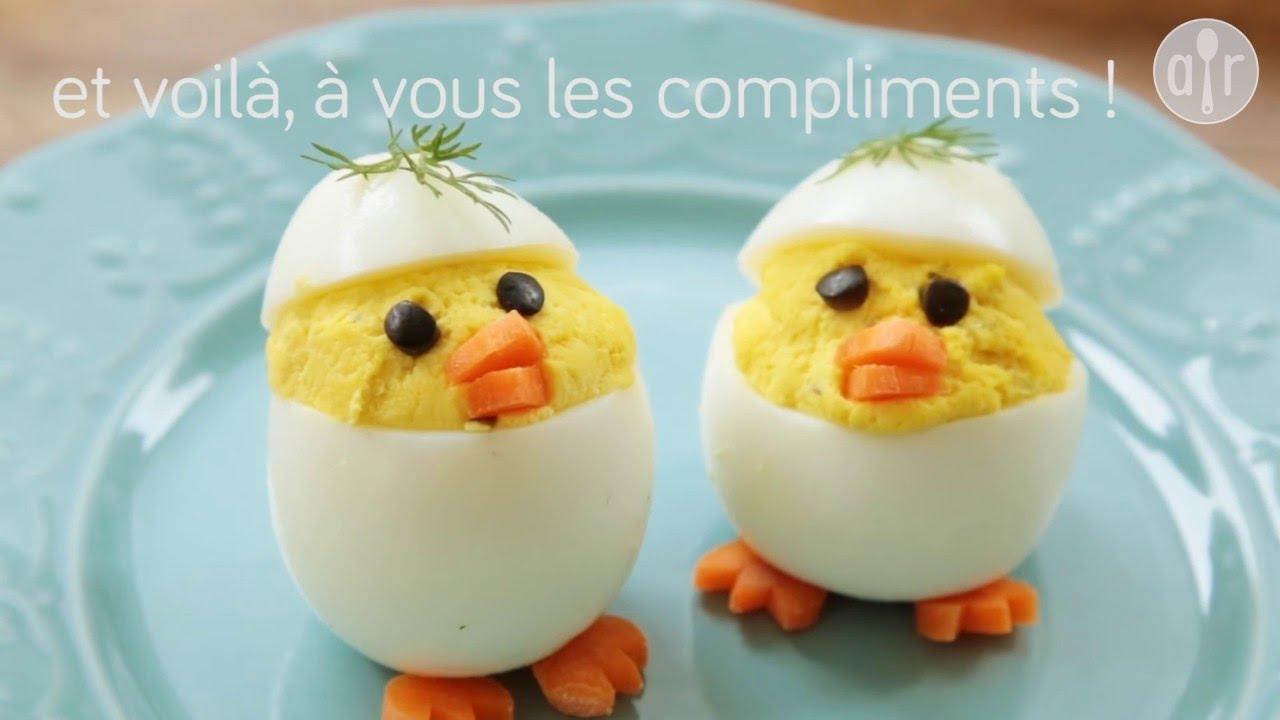 Assez Œufs mimosas déguisés en poussins - YouTube MN25