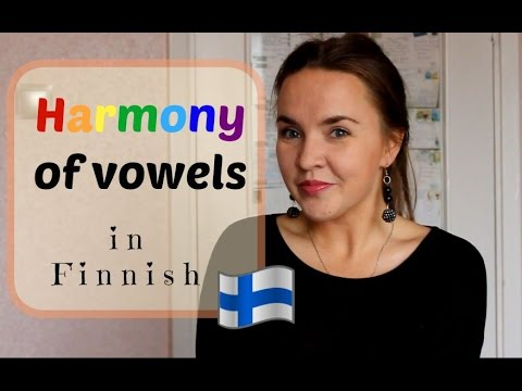 Finnish lesson 16. Harmony of vowels. Opiskele suomea. Vokaa