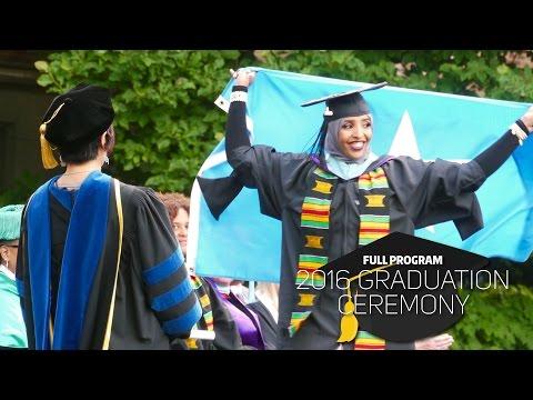 2016 UW College Of Education Graduation Ceremony -- Full Program