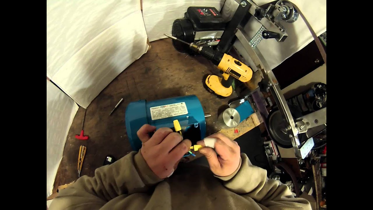 wiring a 3 phase motor 230 volt  getting it ready to connect to a drive  YouTube