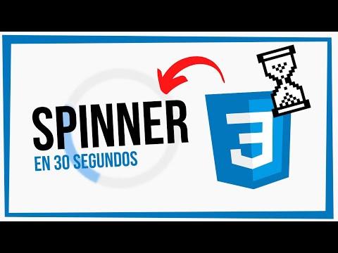 CREA un SPINNER Loader 🌀 en CSS #shorts