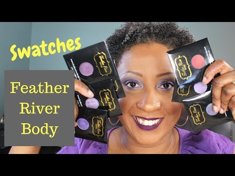 Swatches: Feather River Body Eyeshadows
