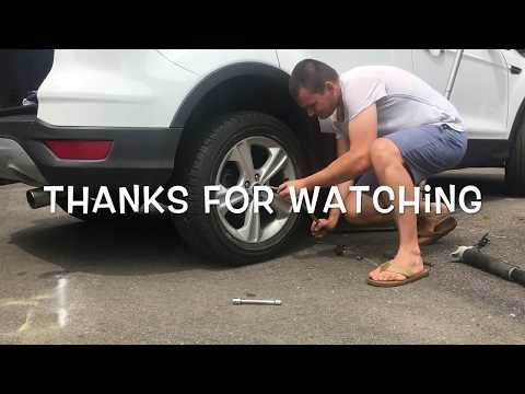 DIY How to replace shock on ford escape 2013 2014 2015 suspension change c