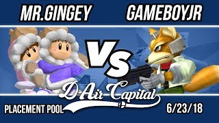 D-Air Capital 6 - Mr. Gingey (Ice Climbers) Vs. Gameboyjr (Fox) -Placement Pools