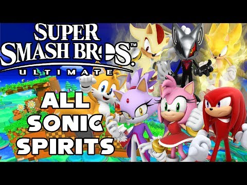 Fighting and Unlocking All Sonic Spirits | Super Smash Bros Ultimate thumbnail