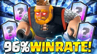 NEW TROPHY RECORD!! BEST ROYAL GIANT DECK WINS ANY MATCHUP in Clash Royale!😱