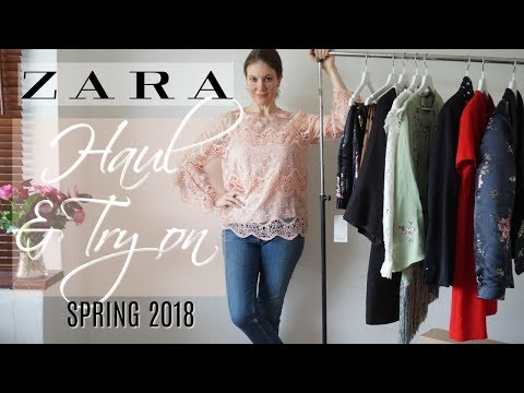 Zara Haul And Try On Spring 2018   Fashion Over 40