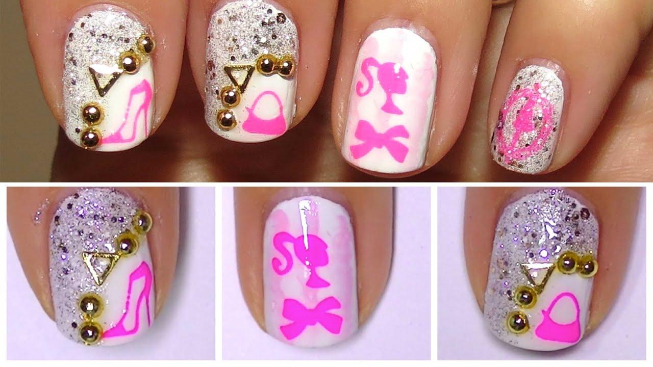 Simple nail design for beginnersbarbie style nails simple nail design for beginnersbarbie style nails bornprettystore prinsesfo Gallery