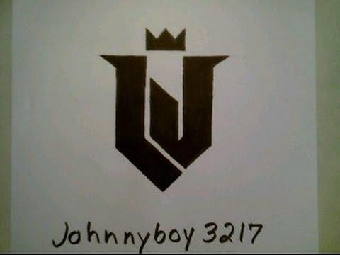 How To Draw Lebron James Logo 4 Sign Symbol Emblem Easy