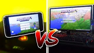 Minecraft Pocket Edition vs Minecraft PC