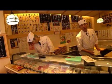Шок от ЦЕН на Суши в Японии! СУШИ едят Стоя! Япония видео онлайн, Авторынок Владивосток Япония Токио