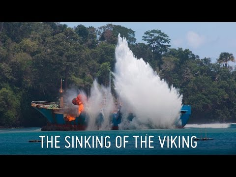 Dramatic Drone Footage of the Sinking of the Viking