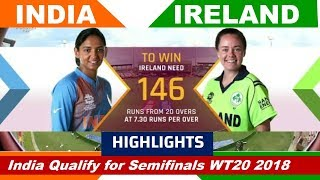 ICC Women's world cup T20 2018 IND vs IRE highlights 2018 |India Qualify for Semifinal
