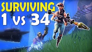 1 VS 34 | MISSION - KILL & SURVIVE TIL HELP ARRIVES | INSANE 50 VS 50 - (Fortnite Battle Royale)