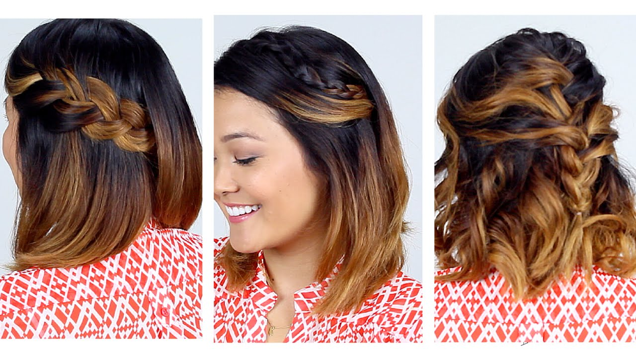 3 Easy Short Hair Hairstyles