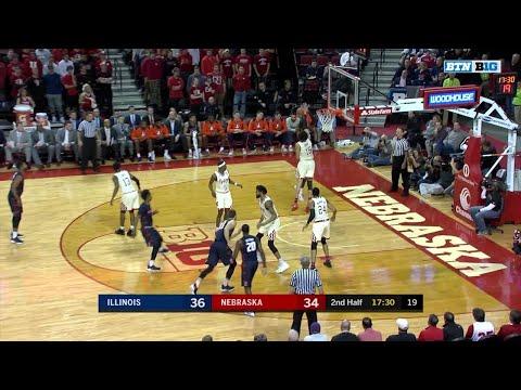 Big Ten Basketball Highlights: Illinois at Nebraska