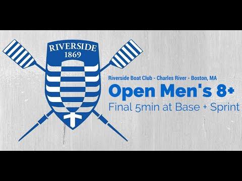 Riverside Boat Club Open Men's 8+ Final 5min at Base + Sprint (Coxswain Recording)