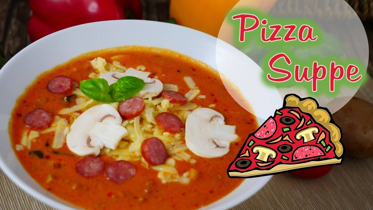 Pizza suppe vegetarisch