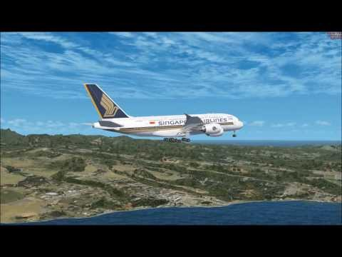 A380 SAINT LUCIA LANDING