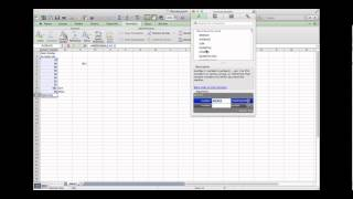 Introduction to Excel 2011 for the Mac (Math502) Part 2