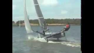 Formula 14 Catamaran sailing