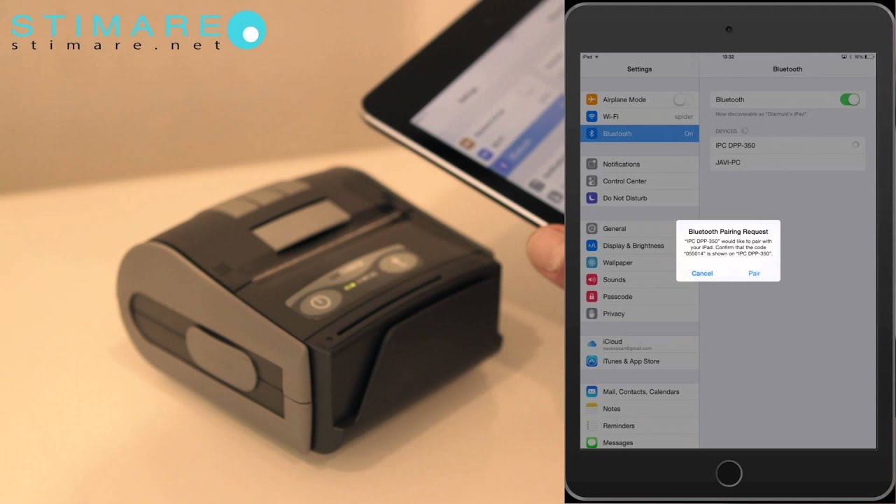 DPP-350 Mobile Receipt Printer Printing from iPad