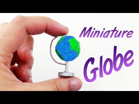 DIY |  Miniature School Globe - Easy Doll crafts - simplekidscrafts - simplekidscrafts
