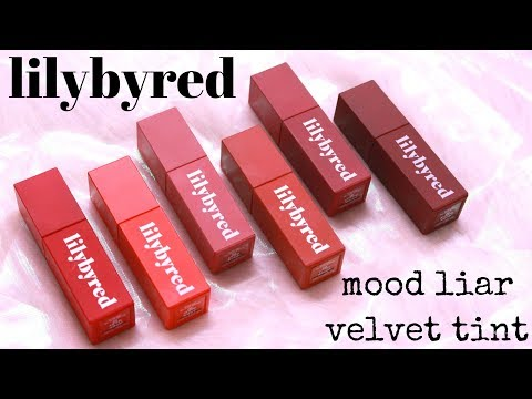 BIYW Review Chapter: #62 LILYBYRED MOOD LIAR VELVET TINT SWATCH & REVIEW