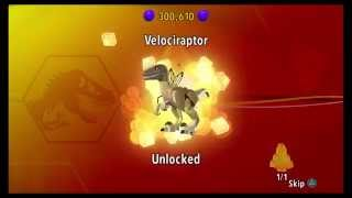 Lego Jurassic World-how To Unlock The Velociraptor
