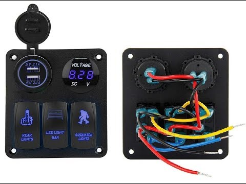 HOW TO WIRE A LED 3 Switch Panel With Dual USB