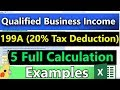 (How to Calculate the 20% 199A QBI Deduction) - Very Detailed (20% Business Tax Deduction Explained)