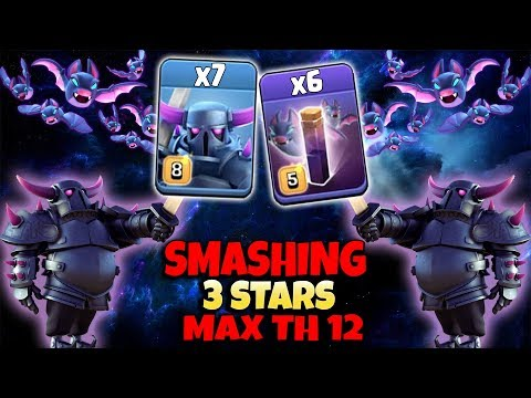 Pekka ATTACK 2019! 7 Max Pekka 6 Max Bat Spell Smashing 3Star Max TH12 Base | Clash Of Clans