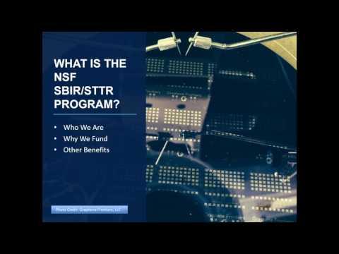 The NSF SBIR/STTR Program: Strategies for Success