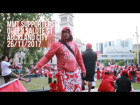 Mate Ma'a Tonga Supporters turn Queen St into Queen Salote St - 26/11/2017 🇹🇴️